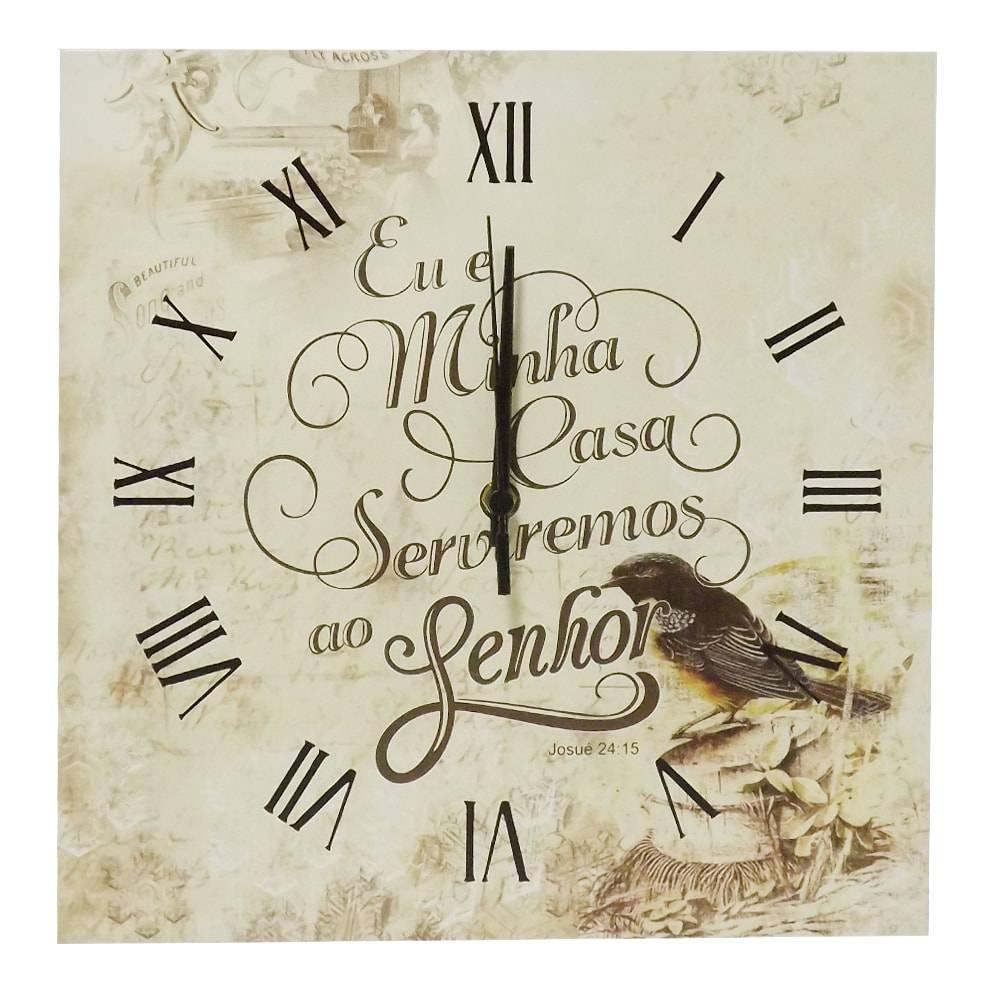Relógio de Parede Oração em Madeira MDF - 30 cm
