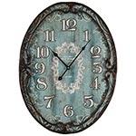 Relógio de Parede Oval Azul Oldtown Oldway