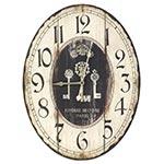 Relógio de Parede Oval Three Keys Oldway