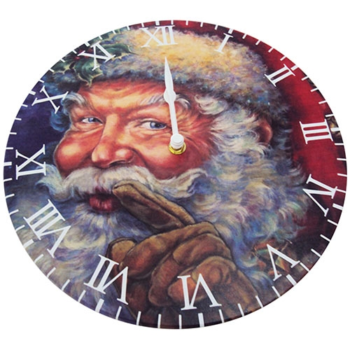 Relógio de Parede Caveira Flor Colorida em MDF - 28 cm