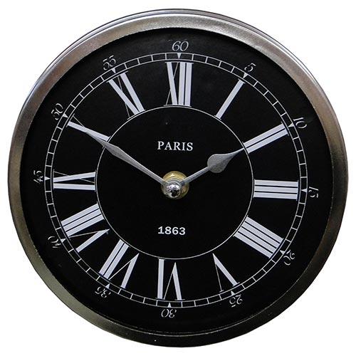 Relógio de Parede Paris 1863 Fullway em Aço - 17x06 cm