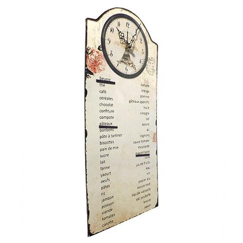 Relógio de Parede Paris Compras - Oldway - Em Metal - 41x18 cm