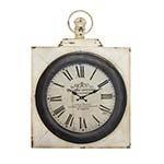 Relógio de Parede Paris Quadrado em Ferro Oldway - 98x80 cm