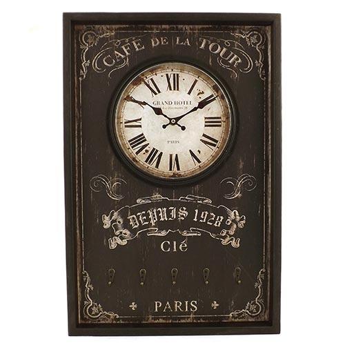 Relógio de Parede / Pendurador Cafe de La Tour Paris Oldway - Em MDF - 40x60 cm