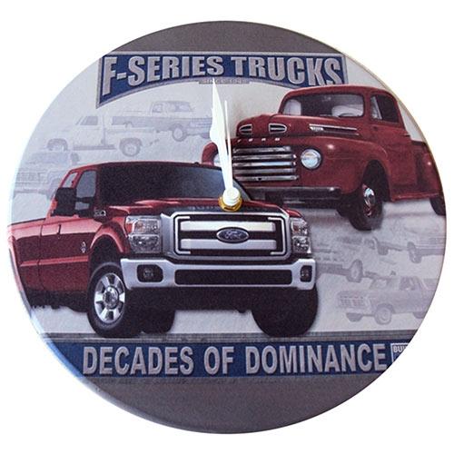 Relógio de Parede Pickups Ford em Madeira MDF - 28 cm