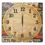 Relógio de Parede Placas de Carros em Madeira MDF - 40 cm