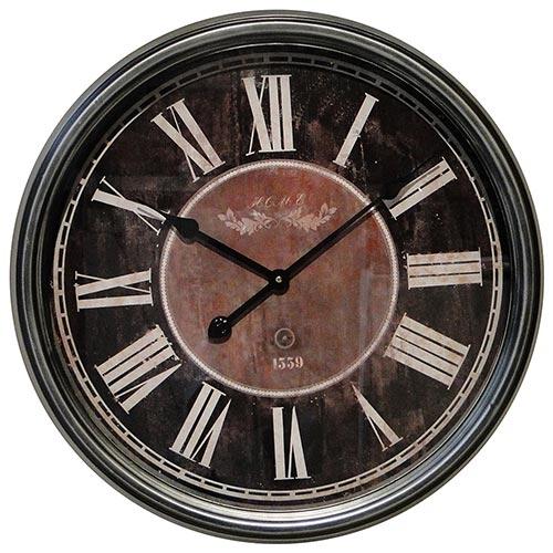 Relógio de Parede Prata 1559 Oldway - 62cm