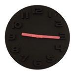 Relógio - Preto com Ponteiros Rosa