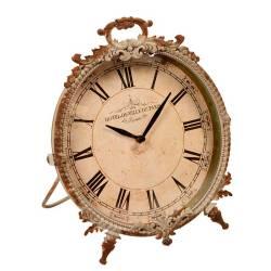 3822ba79bb6 Relógio de Parede Provençal Branco Envelhecido em Metal