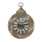 Relógio de Parede Redondo Los Angeles em Ferro Oldway - 71x52 cm
