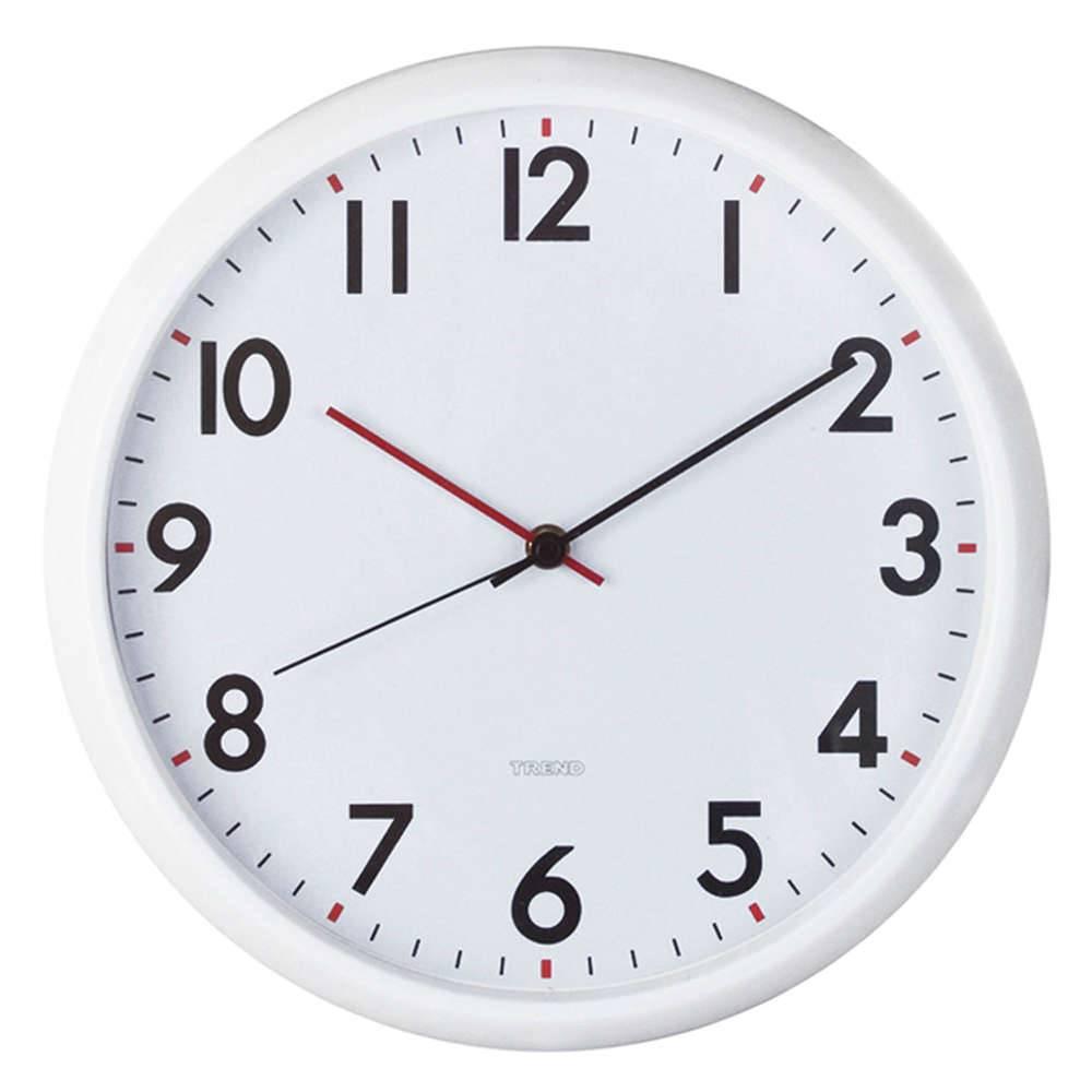 1da1239f4bf Relógio de Parede Redondo com Ponteiros em Vermelho e Preto - Urban - 30 cm