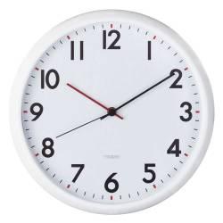 Relógio de Parede Redondo com Ponteiros em Vermelho e Preto