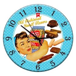 Relógio de Parede Retrô Azul em Madeira MDF R$ 129,95 R$ 93,95 1x de R$ 84,56 sem juros