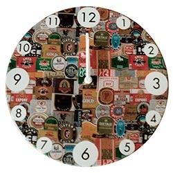 Relógio de Parede Rótulos de Cerveja R$ 129,95 R$ 93,95 1x de R$ 84,56 sem juros