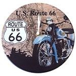 Relógio de Parede Route 66 Moto Azul