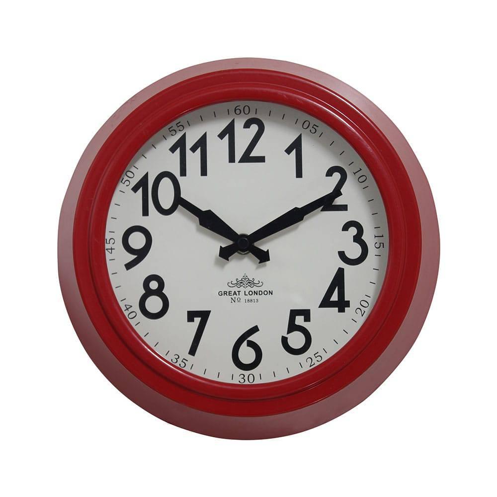 Relógio de Parede Sally Red Oldway x26x8 cm