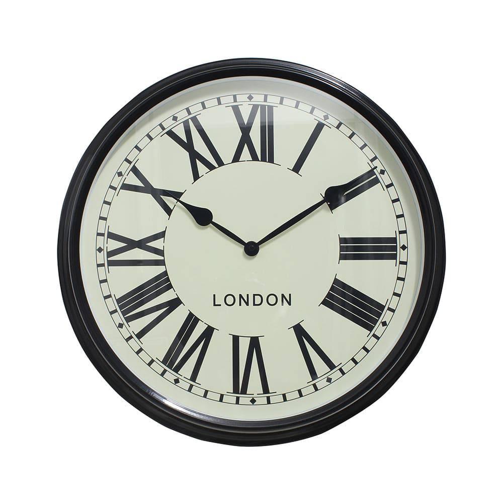 Relógio de Parede Sue Black Oldway - 52x9 cm