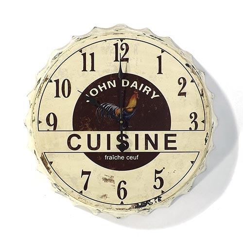 Relógio de Parede Tampa Galo Cuisini Oldway - Em Metal - 51 cm