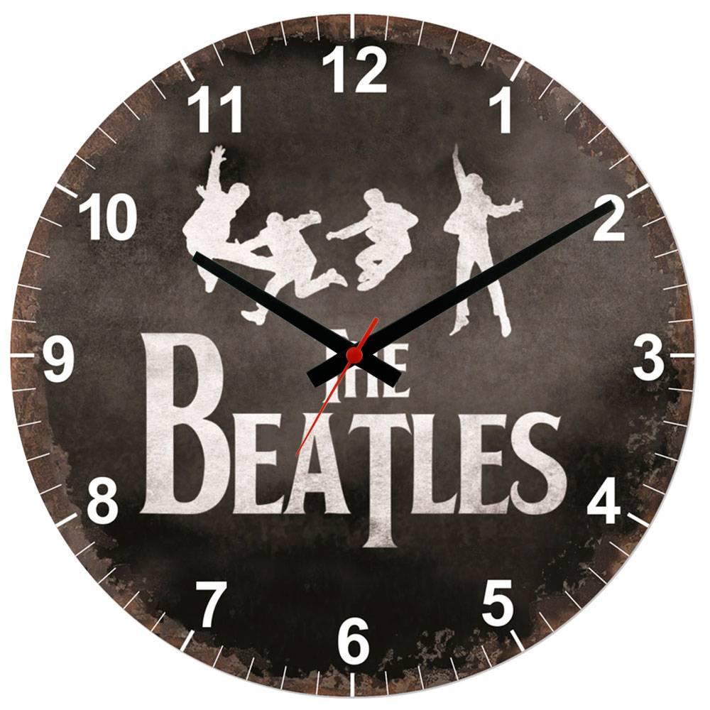 Relógio de Parede The Beatles em MDF - 28 cm