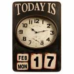 Relógio de Parede Today Is 17 Envelhecido em Metal -73x50 cm