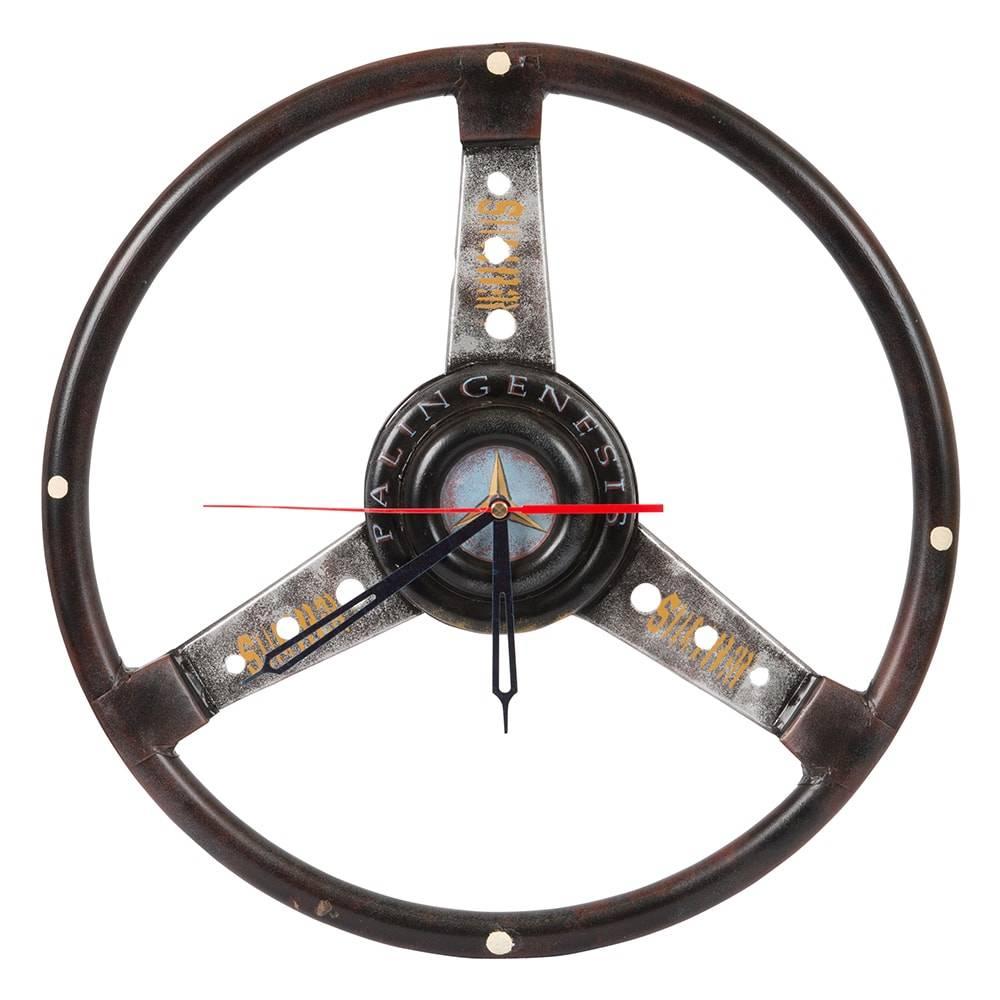 Relógio de Parede Volante Palin Genesis em Madeira - 39x3 cm