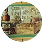 Relógio de Parede Whisky Cork em Madeira MDF - 28 cm