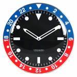 Relógio de Parede Wrist Design Azul e Vermelho em Alumínio - Urban - 35x4,5 cm