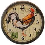 Relógio Pequeno Galo - Vidro Curvo Oldway - 17x6 cm
