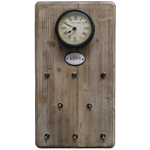 Relógio Porta Chave Natural Keys Oldway - 48x26 cm