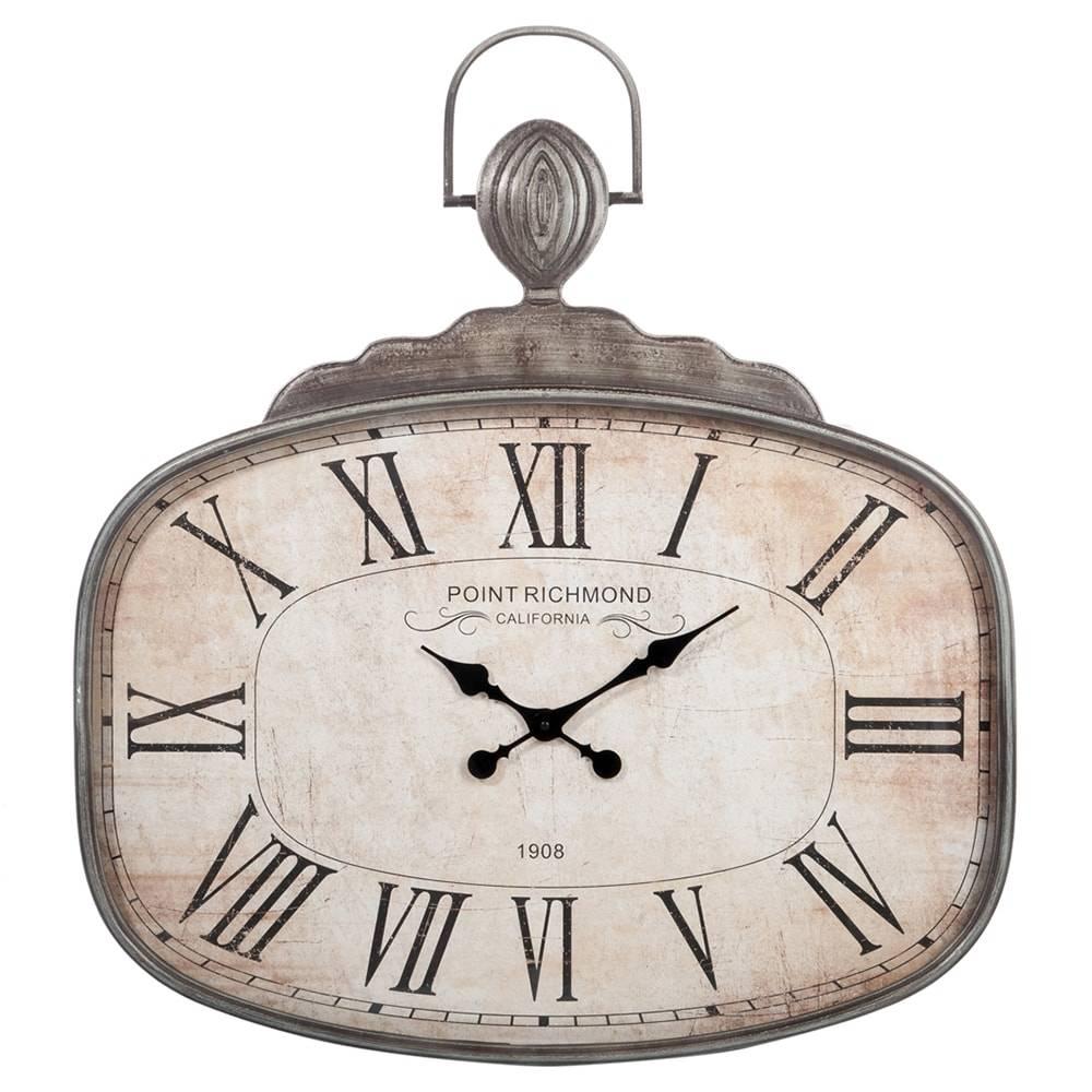 Relógio Richmond Califórnia Marrom em Metal - 83x74,5 cm