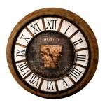 Relógio Romano Corinthian Capital de Parede em Madeira 85 cm
