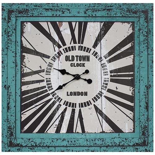 Relógio / Tela Azul Oldtown London Oldway - 70x70 cm