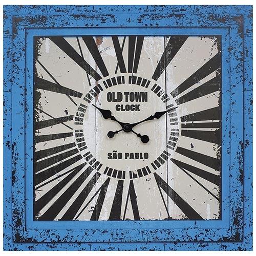 Relógio / Tela Azul Oldtown São Paulo Oldway - 70x70 cm