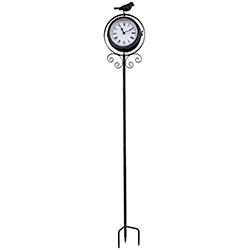 e0a0106dcf6 Relógio com Termômetro e Estaca Pássaro Greenway