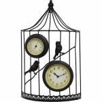 Relógio Termômetro Gaiola Greenway - 51x31x12cm