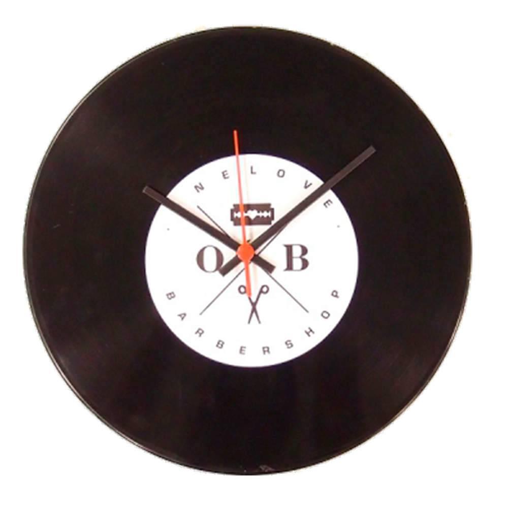 Conjunto 2 Relógios Vinil Barbearia Minimalista - 30x2 cm
