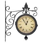 Relógio/Termômetro Estação Antique Uso Externo Greenway - 33x23cm