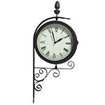 Relógio/Termômetro Estação Uso Externo Greenway - 53x25cm