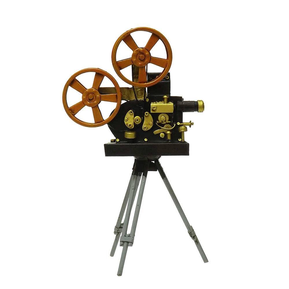 Réplica Câmera Filmadora Modelo Black Movie Camera em Ferro - 26x15 cm