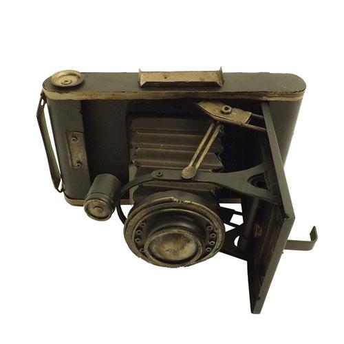 Réplica de Câmera Fotográfica Antiga - Metal - 21x14cm