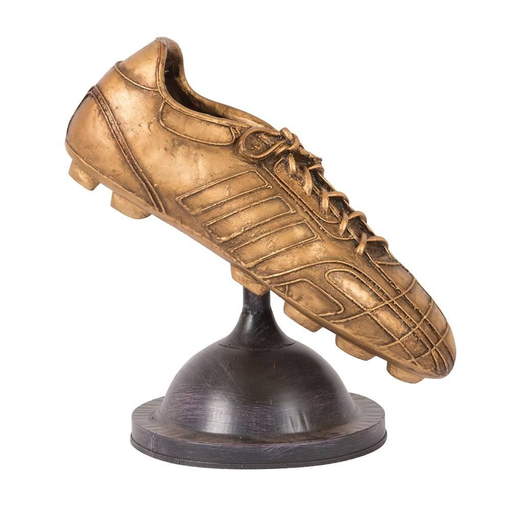 Réplica Chuteira Modelo Gold Boot em Ferro - 26x23 cm