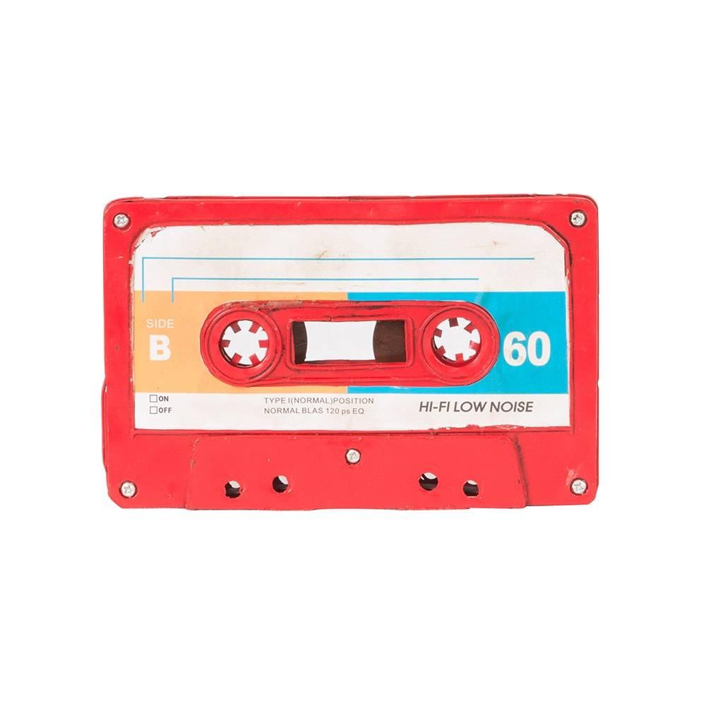 Réplica Fita Cassete Vintage Red Tape em Ferro - 21x13 cm