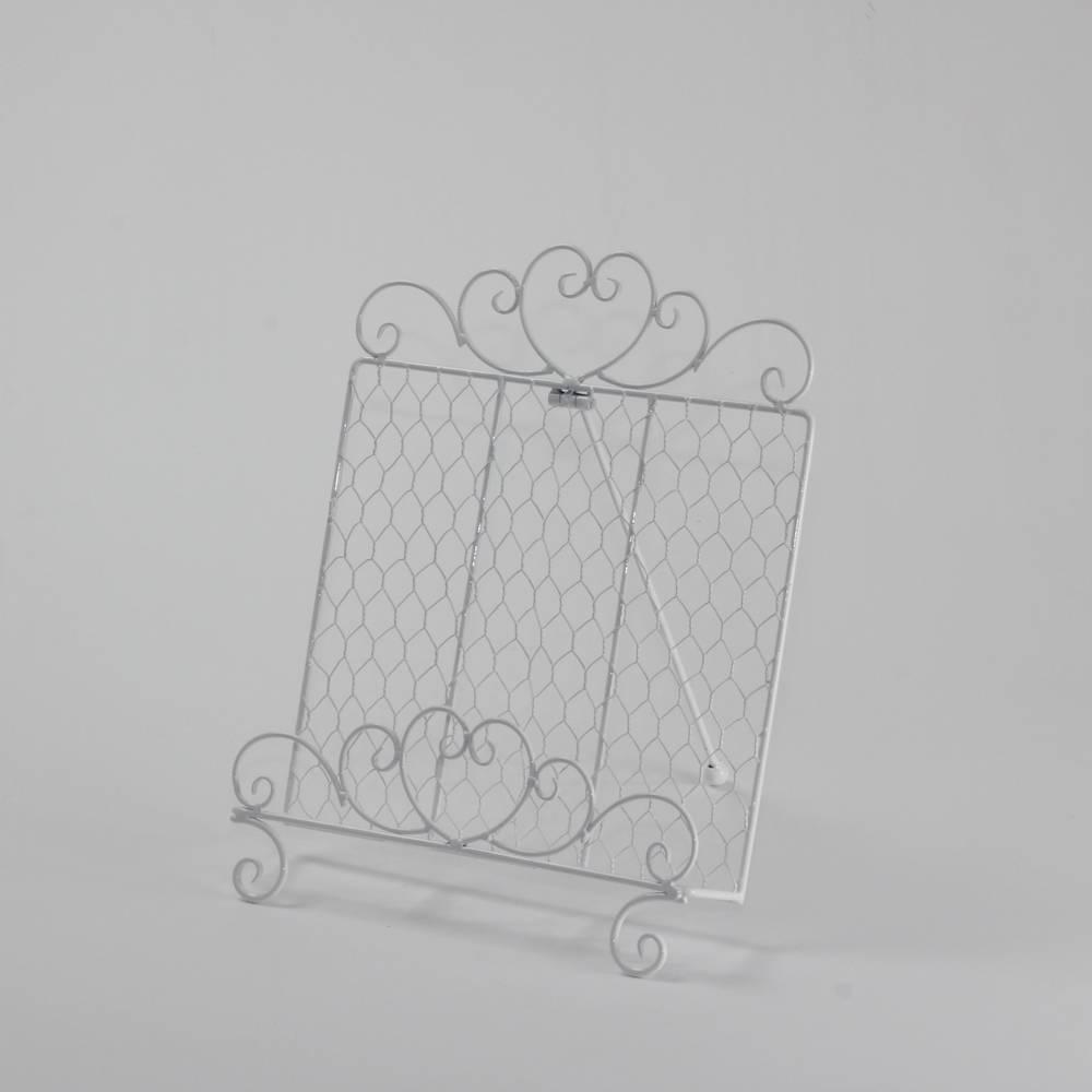 Revisteiro Branco em Metal - Bon Gourmet - 26,5x23 cm