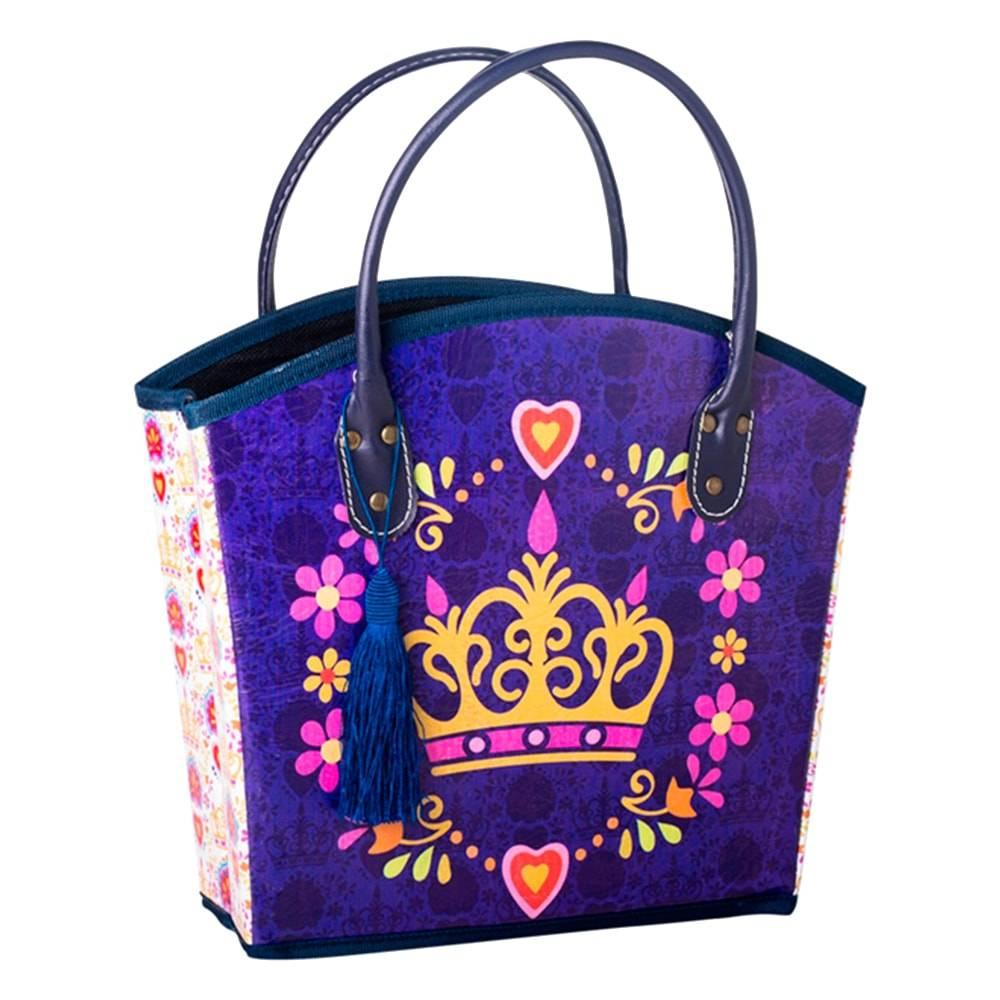 Revisteiro Coroa Realeza Roxo em Courino - 36x29 cm
