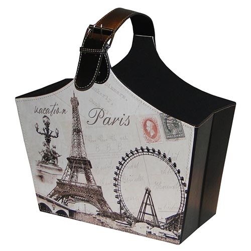 Revisteiro Paris Alça Larga Fullway - 40x37 cm
