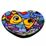 Saboneteira Fish - Romero Britto - em Cerâmica - 16x10 cm