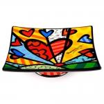 Saboneteira New Day - Romero Britto - em Cerâmica - 16x13 cm
