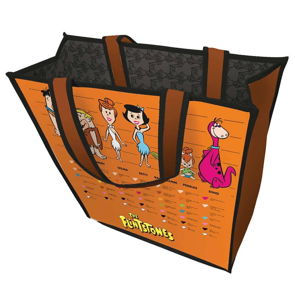 Sacola Hanna Barbera Flintstones Family Laranja em Polipropileno - Urban - 40x15 cm