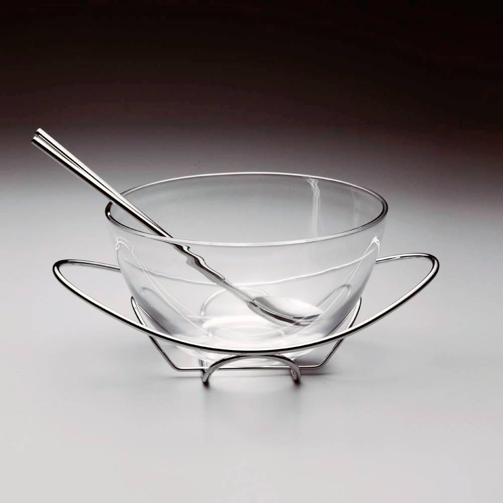 Saladeira Cadoro c/ Talheres em Prata - Wolff - 24 cm