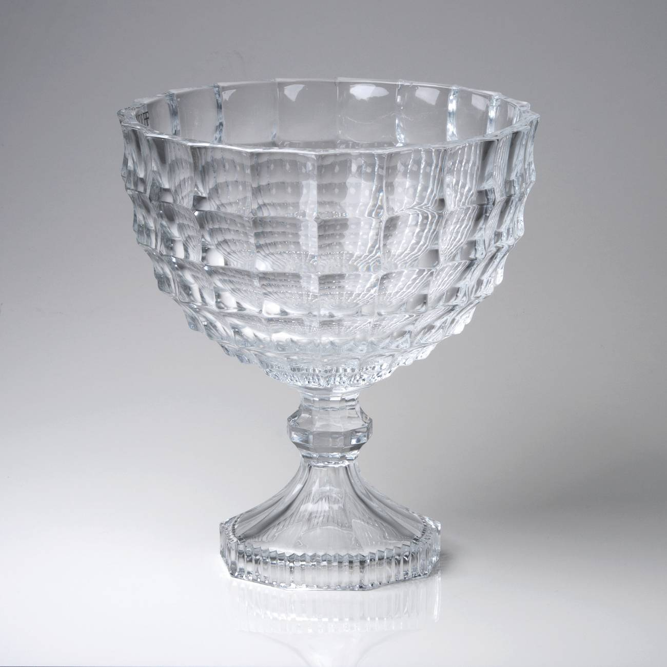 Saladeira Glitz Pedestal em Cristal - Wolff - 24,5x22,5 cm